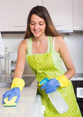 Cocina limpieza mujer — Foto de Stock