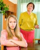 Daughter against  mother after conflict — Stok fotoğraf