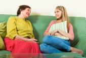 Mother and daughter  gossiping — Stok fotoğraf