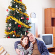 Couple at Christmas time — Stock Photo #59520747