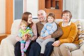 Portre aile içinde ev — Stok fotoğraf