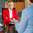 Female having difficult conversation — Stock Photo #59530539