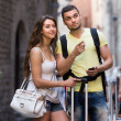 Couple with GPS — Stock Photo #61557319