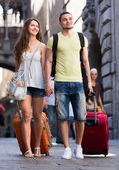 Two travelers — Stock Photo