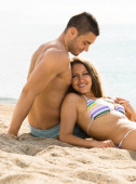 Two relaxing on  beach — Stockfoto