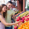 Couple picking fruits — Stock Photo #61571853