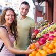 Couple picking fruits — Stock Photo #61571965