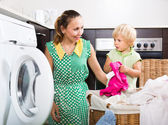 Home family laundry — Stock fotografie