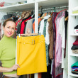 Female choosing apparel — Stock Photo #61620005