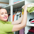 Female choosing apparel — Stock Photo #61620083