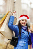 Kerst shopping — Stockfoto
