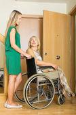 Happy woman in wheelchair — Stock Photo