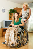 Social worker and disabled — Foto de Stock