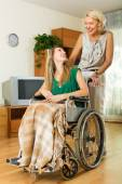 Social worker and disabled — Stock Photo