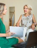 Social worker and handicapped — Stock Photo