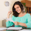 Woman filling papers — Stock Photo #61814737