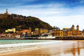 La Concha beach, San Sebastian — Stock Photo