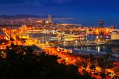 Barcelona   evening view — Stock Photo