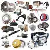 Set of motor and spare parts. — Stockfoto