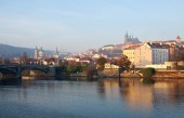 θέα προς την πράγα, τσεχία — Φωτογραφία Αρχείου