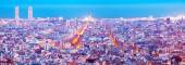 Night panoramic view of Barcelona — Stock Photo