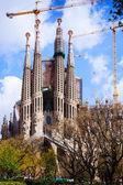 View of Sagrada Familia.  Spain — Stock Photo