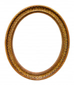 Oval picture gilded frame  — Stock Photo