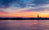 View of St. Petersburg in summer dawn — Stock Photo