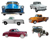 Set of classical vintage  automobiles — Photo