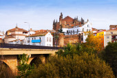 Plasencia town with Cathedral — Stock Photo