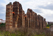 Antique  Roman Aqueduct at Merida — Stock Photo