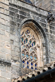 Old window of Church of San Miguel  — Stockfoto