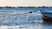Fishing boats at ocean bay — Stock Photo