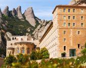 Mosteiro de santa maria de montserrat — Fotografia Stock