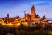 Evening view of Segovia Cathedral — Stockfoto