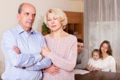 Sad mature couple — Stock Photo