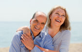 Elderly couple spends time — Stock Photo