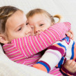 Happy little sisters — Stock Photo #64304475