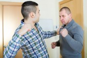 Two adult males having fight — Stock Photo