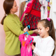 Child in dressing room — Stock Photo #64317779