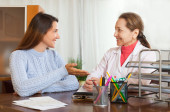 Female doctor and teenage patient — Stock Photo