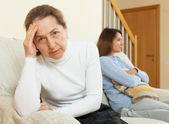Mother and daughter after quarrel  — Stock Photo