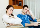 Sadness  couple having problems  — Stock fotografie