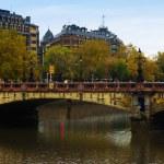 Maria Cristina bridge over Urumea river — Stock Photo #66544061