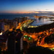 Night panorama of  Malaga — Stock Photo #66547385