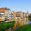 River and picturesque houses in Girona — Stock Photo #66548285