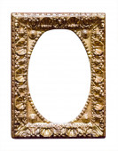 Empty classic golden picture frame — Stock Photo