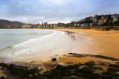La Concha beach in Donistia — Stok fotoğraf