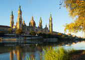 Cathedral of Our Lady of Pillar in Zaragoza — Stock Photo
