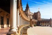 Colonnade of  central building Plaza de Espana — Stock Photo